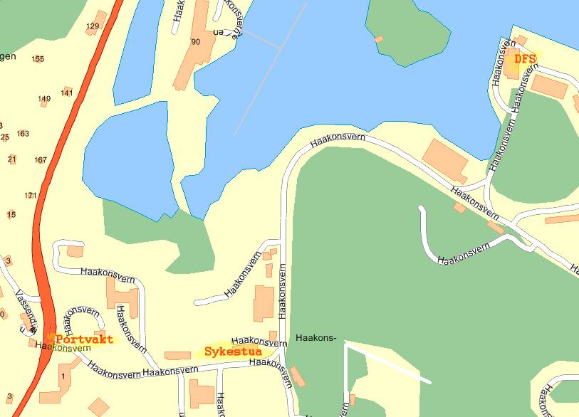 håkonsvern kart Reisemåte håkonsvern kart